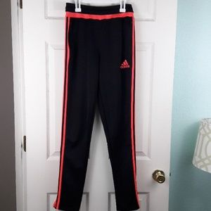Adidas Climalite Neon Pink/Black Ankle Zip Joggers